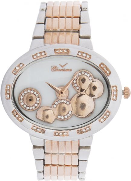 c0baaf36a Charisma Women s White Dial Stainless Steel Band Watch - C5669R
