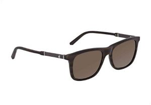 9bf8620f06a Mont Blanc Rectangle Sunglasses for Unisex, Brown - MB606S50E54