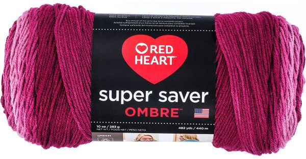 Anemone 10 oz Red Heart Super Saver Ombre Yarn