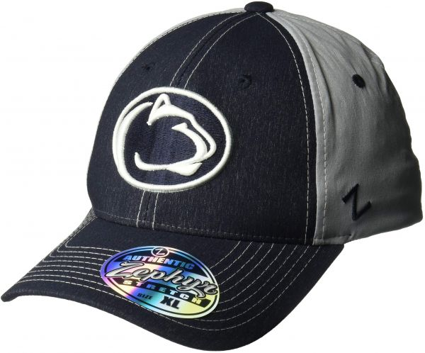 X-Large Grey NCAA Zephyr Stanford Cardinal Mens Tailored Stretch Hat