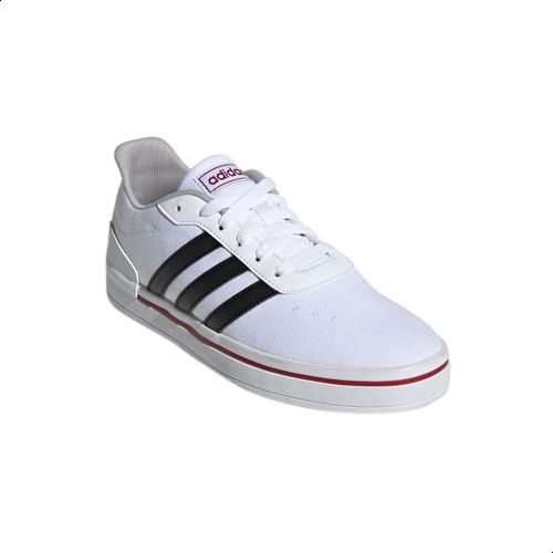buy popular huge sale multiple colors Adidas Heawin Canvas Contrast Logo Tongue Three Side-Stripe Skateboarding  Athletic Shoes for Women - Ftwr White - 38