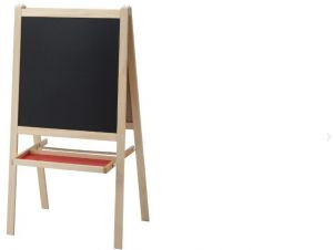 Fabulous Black And White Board For Children With Wooden Stand Andrewgaddart Wooden Chair Designs For Living Room Andrewgaddartcom