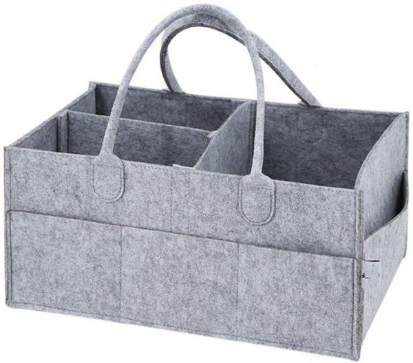 Felt storage caddy Baby Diaper Bag Organizer Basket Portable Nursery Storage Bin