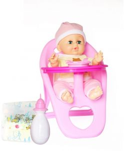 Baby Born Doll With Baby Chair And Feeding Bottle Buy Online