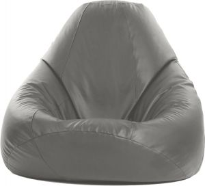 Pleasant Regal In House Leather Bean Bag Chair Grey Large Lbb001L021 Andrewgaddart Wooden Chair Designs For Living Room Andrewgaddartcom