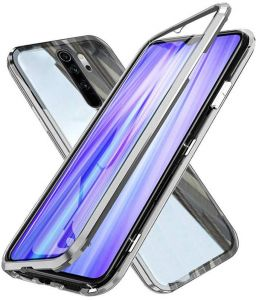 For Xiaomi Redmi Note 8 Pro Case 360 Degree Full Cover 2 Pieces Metal Frame Magnetic Tempered Glass Silver Buy Online Mobile Phone Accessories At Best Prices In Egypt Souq Com