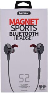 Remax S2 Wireless Magnet Sports Bluetooth Hedset Grey Buy Online Headphones Headsets At Best Prices In Egypt Souq Com