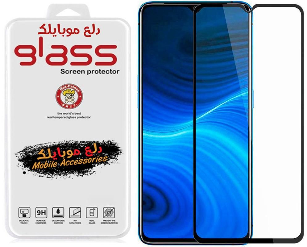 5D Tempered Glass Screen Protector For Realme X2 Pro/Reno Ace - Black