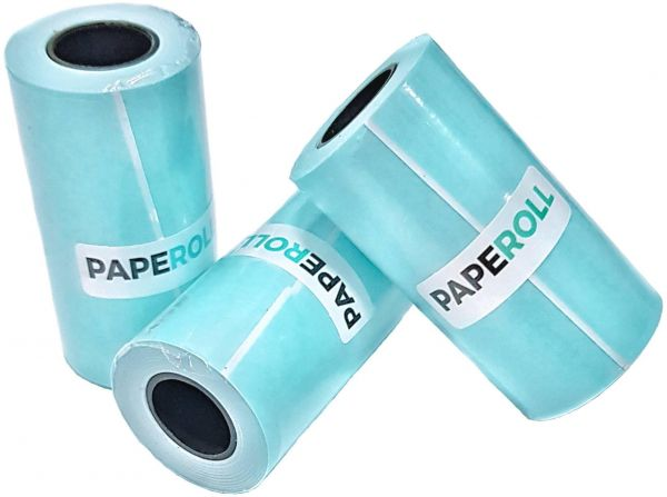 3 Thermal Paper Study Sticker Thermal Paper for Paperang Mini Photo Printer Work Teepao Self-Adhesive Thermal Paper Rolls 57 x 30mm for Fun