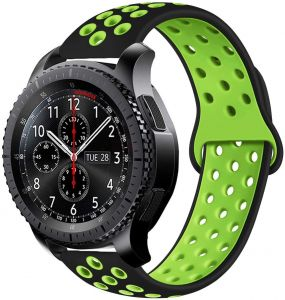 Citar prefacio Irradiar  For Samsung Gear S3 Frontier Watch Breathable Nike Sport Band Design with  Air Holes and Quick Release Pin - Double Colors Strap - Black / Yellow :  Buy Online Smart Watches &