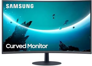 Samsung Curved FHD Monitor, Flicker Free, Built-in Speaker, 32 inch, Black  - LC32T550FDMXZN : Buy Online Computer Monitors at Best Prices in Egypt    Souq.com