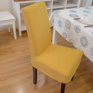 Plush Dining Chair Covers Dark Gold Buy Online Home Decor At Best Prices In Egypt Souq Com