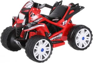 INJUSA Motorcycle Repsol 12V Orange with Official License Recommended for Children 3 Years with Lights and Sounds and Rubber Bands on Plastic Wheels