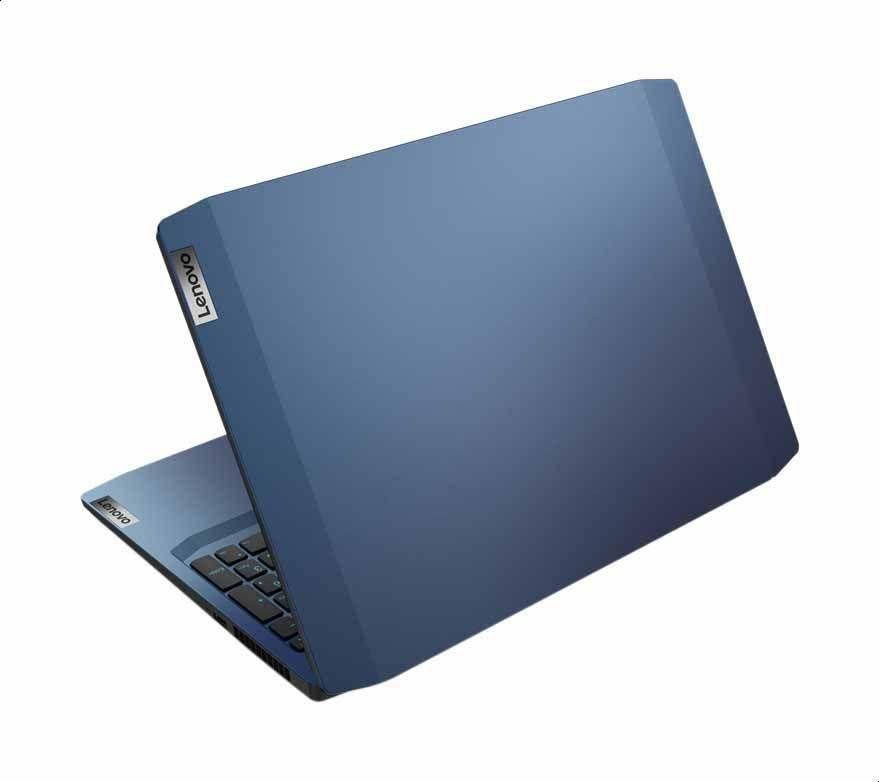 Lenovo IdeaPad Gaming 3 15ARH05 laptop - Ryzen 5 4600H 6-Core, 16 GB RAM , 1TB HDD and 128 GB SSD, NVIDIA GeForce GTX 1650 4GB GDDR6 Graphics, 15.6 Inch FHD IPS 120 Hz, Blue LED Backlit Keyboard, Dos - Chameleon Blue (Lenovo Gaming M100 RGB Mouse Inside)
