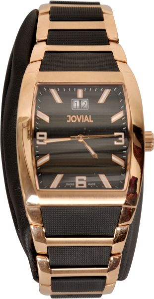 Jovial Bronze And Black Dress Watch For Men Souq Uae