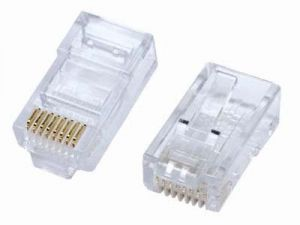 CAT5 Modular RJ45 Connectors, - 100-Pack