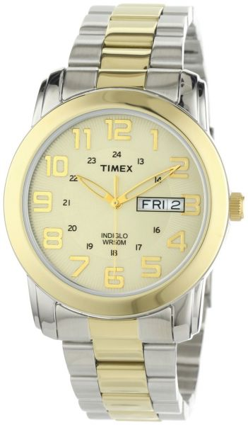 Timex Men s T2N439 Elevated Classics Sport Chic Two-Tone Stainless ... 87e13f49f13